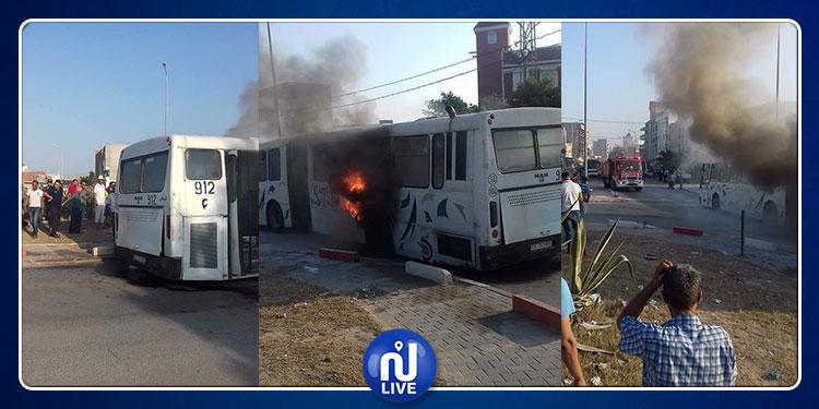 سوسة :  حالة من الهلع  إثر احتراق حافلة لنقل الركاب