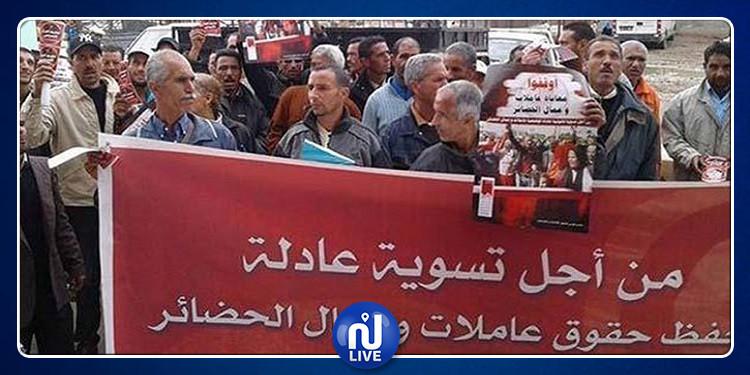 تنسيقيات عمال الحضائر تلوح بتنفيذ اعتصام وطني مفتوح