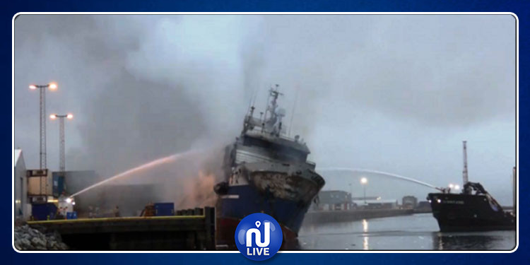 غرق سفينة روسية في النرويج