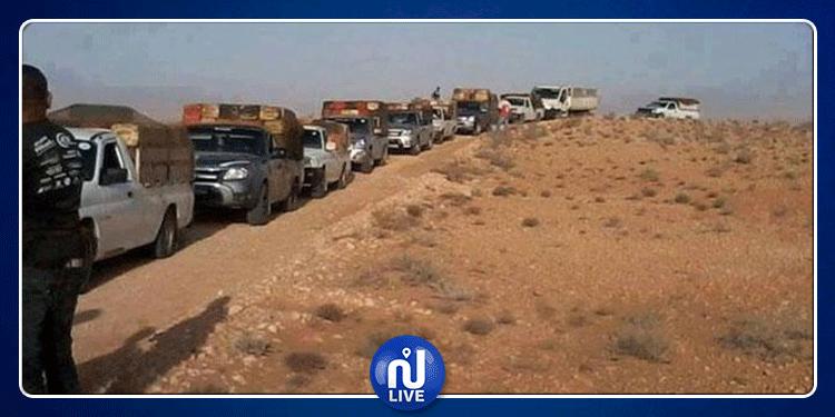 حجز شاحنات محملة ببضائع مهربة قيمتها 332 ألف دينار