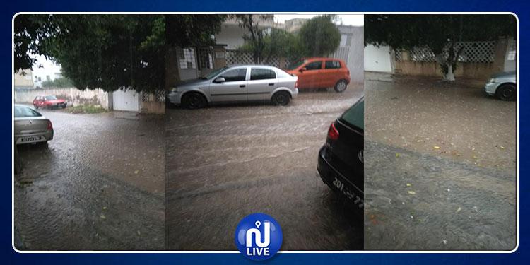 مياه الأمطار تغمر طرقات باردو