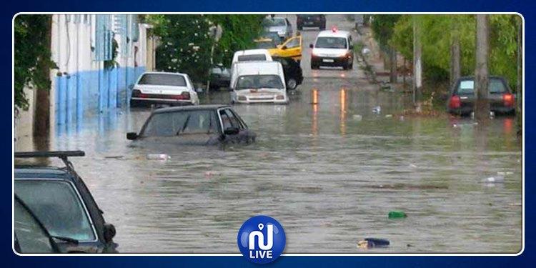 فيضانات أريانة : تواصل شفط المياه والأولوية للمؤسسات التربوية