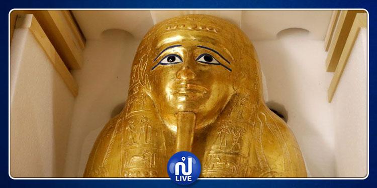 باعته شبكة تهريب دولية..متحف أميركي يعيد تابوتا ذهبيا مسروقا إلى مصر