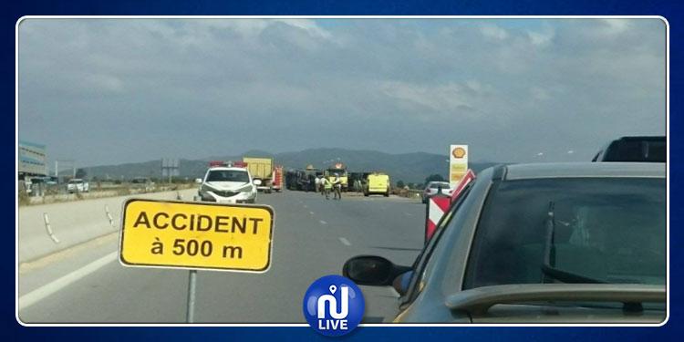الطريق السيارة تونس - تركي: وفاة سائق ''لواج'' وإصابة عون أمن في حادث مرور