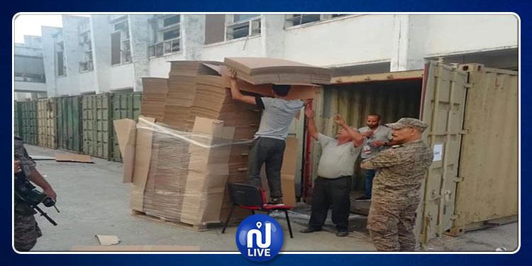 الجيش الوطني يؤمن نقل المواد الانتخابية الخاصة بالتشريعية 2019( صور)