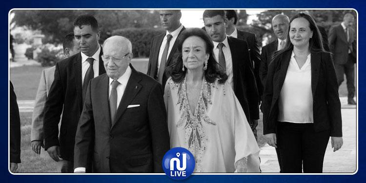 جثمان شادلية فرحات  أرملة الرئيس الراحليوارى الثرى في مقبرة الجلاز