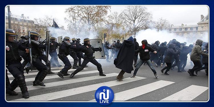 الشرطة الفرنسية تستخدم الغاز المسيل وتعتقل متظاهرين