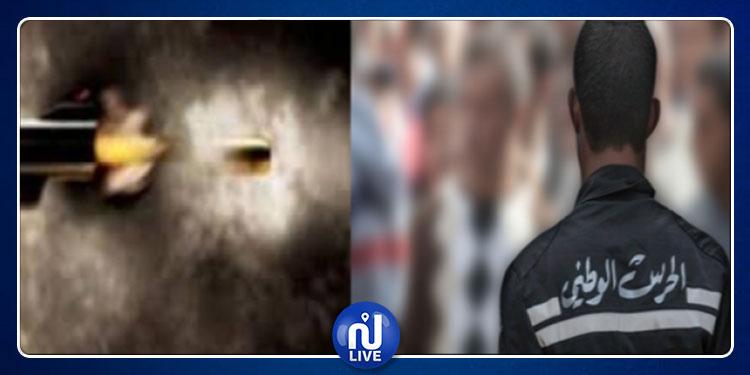 ساقية سيدي يوسف :  إصابة عون حرس بطلق ناري على وجه الخطأ