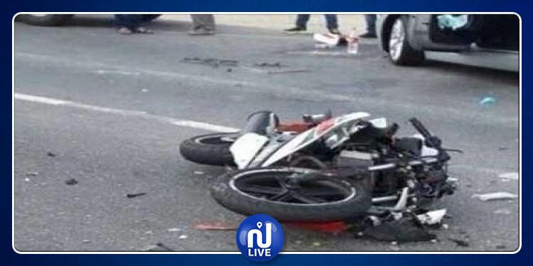 قرمبالية: وفاة شابين بحادث اصطدام شاحنة محملة بالمشروبات الكحولية بدراجة نارية