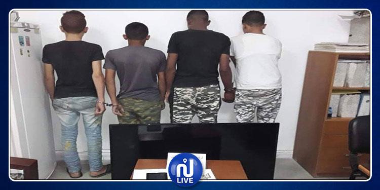 مكنين: القبض على أربعة أشخاص استولوا على مصوغ وتجهيزات منزلية (صور)