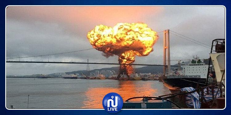 كوريا الجنوبية: إصابة 9 بحّارة في انفجار ناقلة نفط و تسرب الحريق إلى ناقلة أخرى