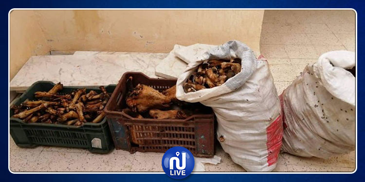 القصرين:  مداهمة مطعم  وحجز 300 كلغ من لحوم ''الرأس  والساق'' الفاسدة (صور)