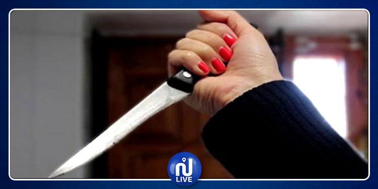 فرنانة : أربعينية تطعن نفسها بسكين بسبب خلاف عائلي