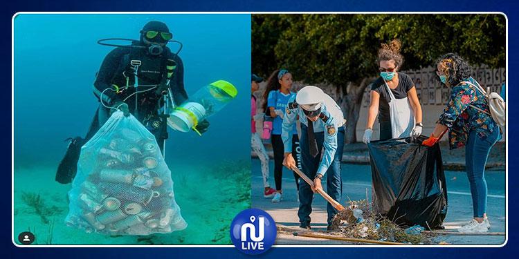 التونسيون يبهرون العالم مجددا .. حملة نظافة برّا وبحرا (صور)