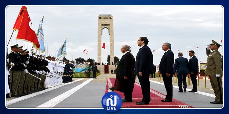 رئيس الجمهورية يشرف على موكب إحياء الذكرى 56 لعيد الجلاء ببنزرت