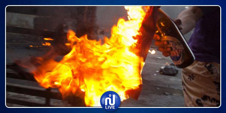 أكودة : منحرف يلقي زجاجة حارقة على مركز أمن