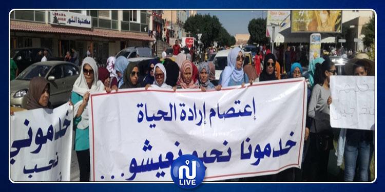 قفصة: مسيرة سلمية لأصحاب الشهائد العليا المعطلين عن العمل