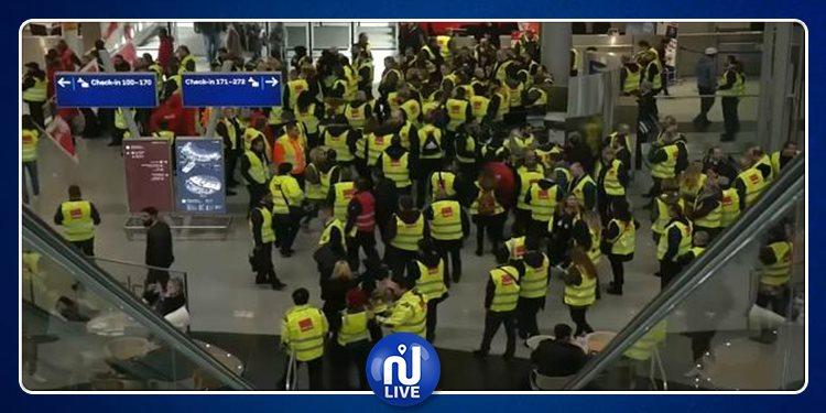 شلل في عديد المطارات الألمانية كامل اليوم الأحد
