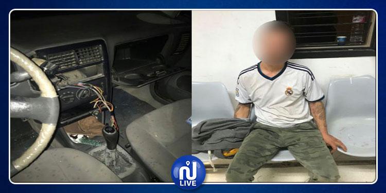 المنزه: القبض على شخص بصدد سرقة سيارة