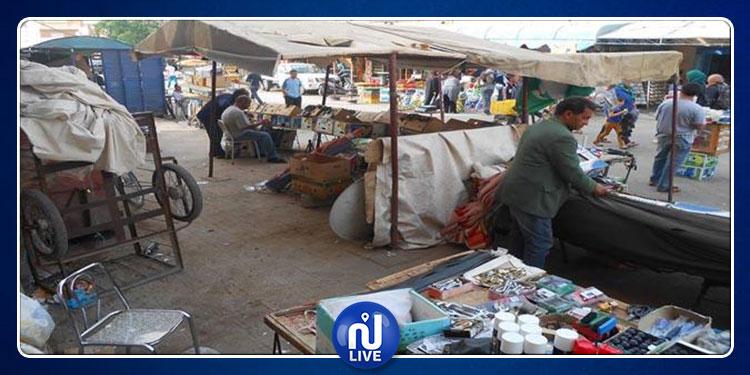 تجار سوق الأحد يحتجون ضد الانتصاب الفوضوي