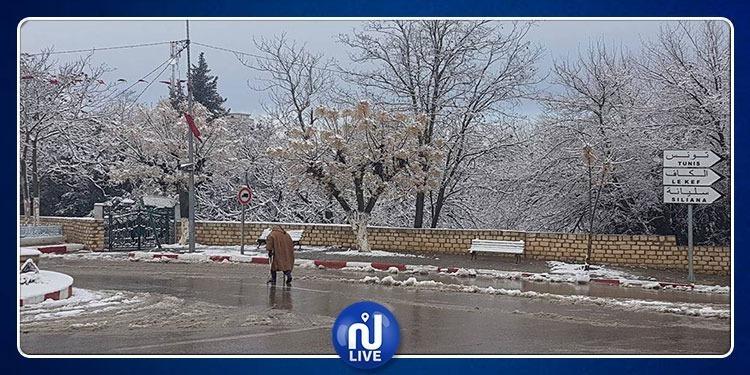 تساقط الثلوج بمرتفعات سليانة