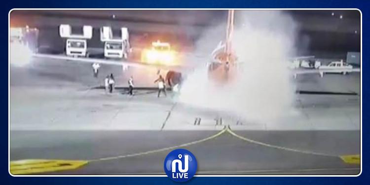 اندلاع حريقبمطار شرم الشيخ (فيديو)