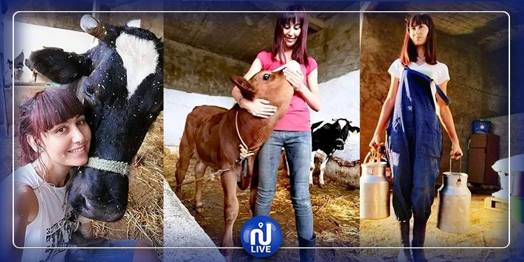 قصة نجاح فتاة تونسية .. خيرت تربية الأبقار على إختصاصها الدراسي (صور)