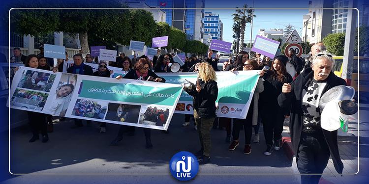سوسة : مسيرة نسوية للتنديد بالعنف المسلط على المرأة (صور)