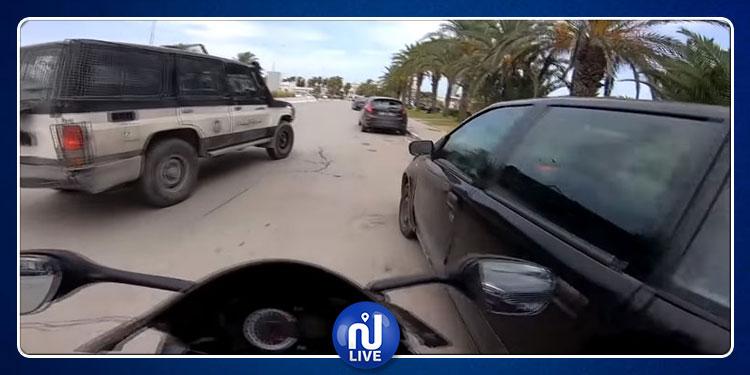 فيديو دورية أمنية تقايض تونسيا  مقيما بفرنسا .. وزارة الداخلية تتدخّل