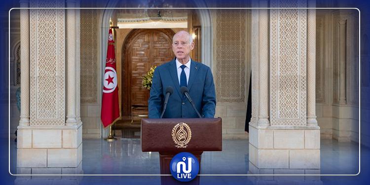 رئيس الجمهورية يتوجه بكلمة إلى الشعب التونسي