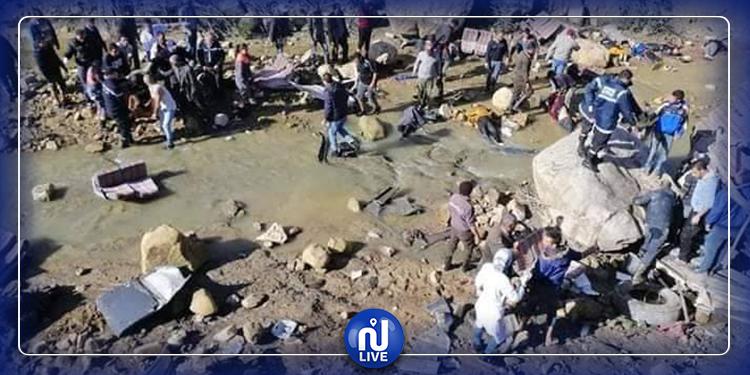 ارتفاع حصيلة ضحايا حادث انقلاب حافلة بعين دراهم إلى 22 قتيلا و21 جريحا