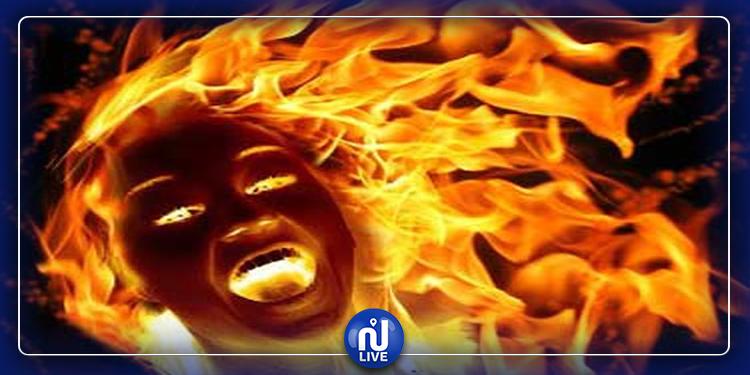 زوج يضرم النار في زوجته بسبب تأخرها في الإنجاب