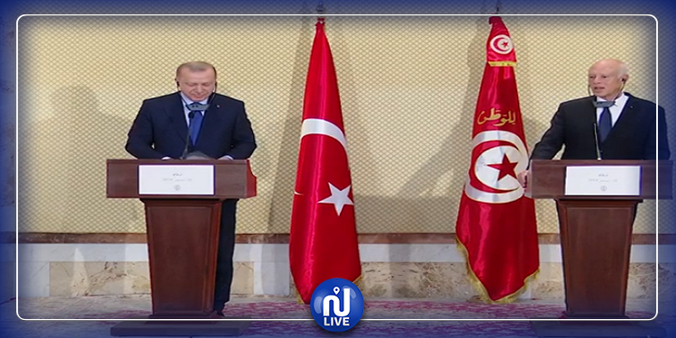 توضيح رئاسة الجمهورية  بخصوص التغطية الإعلامية للقاء الصحفي لسعيّد و أردوغان