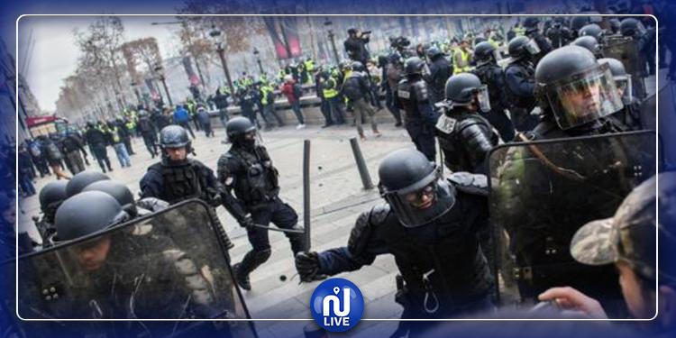 اشتباكات بين محتجين والشرطة الفرنسية