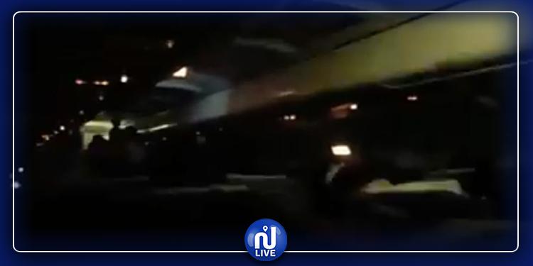 هلع و فزع داخل طائرة التونيسار القادمة من نيس (فيديو)