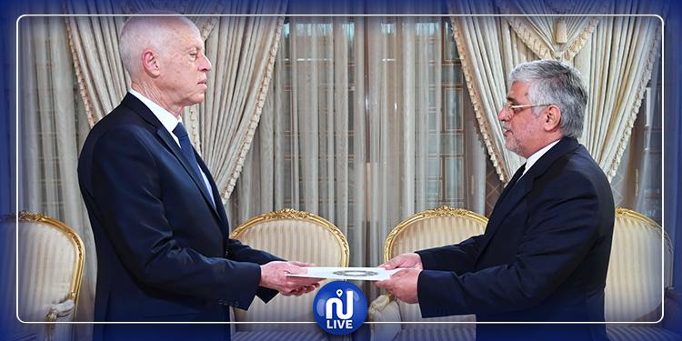 رئيس الجمهورية يتسلم أوراق اعتماد السفير الإيراني الجديد بتونس