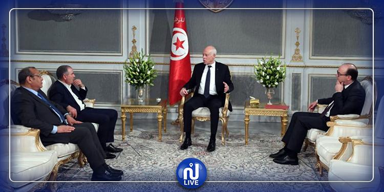 Le président de la République se réunit avec Taboubi, Majoul et Fakhfakh