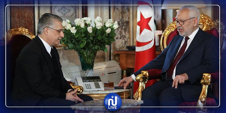 رئيس البرلمان يستقبل رئيس حزب قلب تونس
