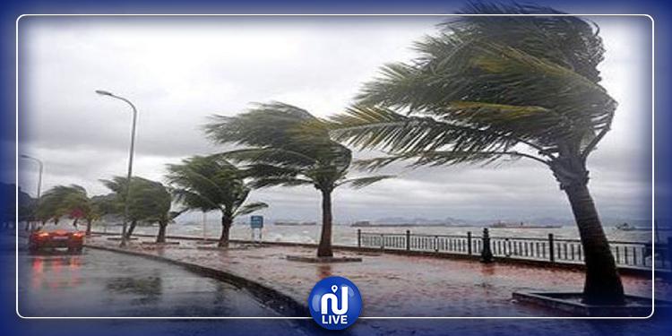 طقس الثلاثاء..أمطار ورياح قوية تصل إلى 100 كلم في الساعة
