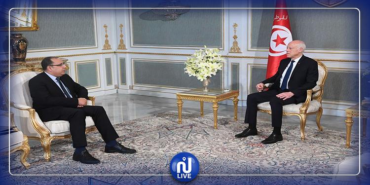 لقاء رئيس الجمهورية بوزير الداخلية