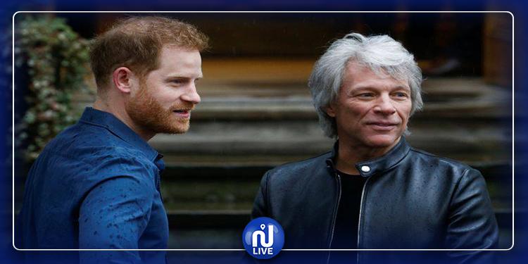Le prince Harry Jon Bon Jovi enregistrent un single caritatif