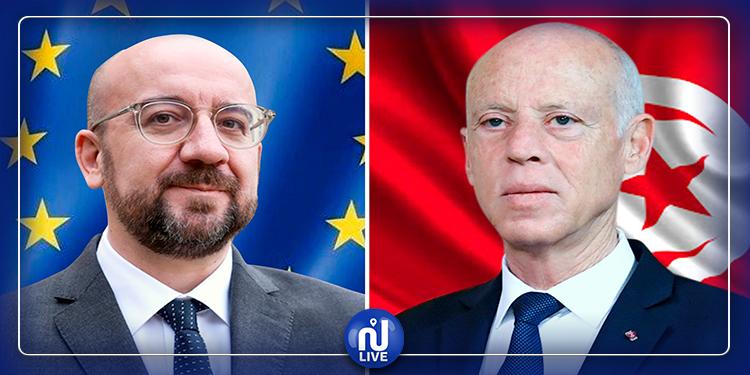 مكالمة هاتفية بين رئيس الجمهورية ورئيس المجلس الأوروبي