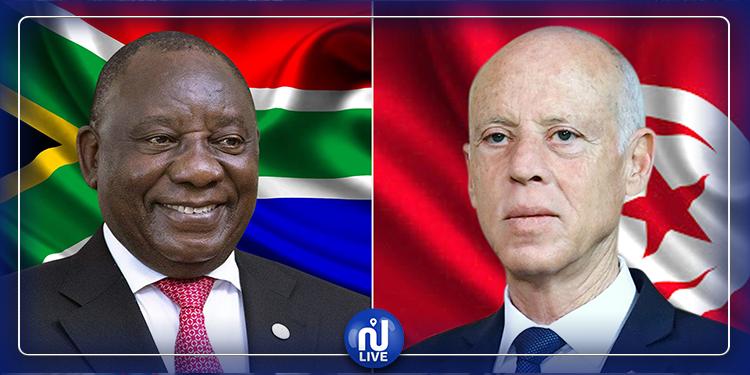 رئيس جنوب إفريقيا  يدعم مبادرة تونس لمجابهة كورونا