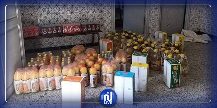 جندوبة :حجز كميات من الزيت و مشروبات و قهوة مهربة من القطر الجزائري (صور)