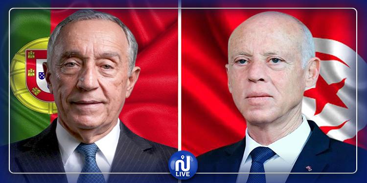 فحوى مكالمة هاتفية بين رئيس الجمهورية ونظيره البرتغالي
