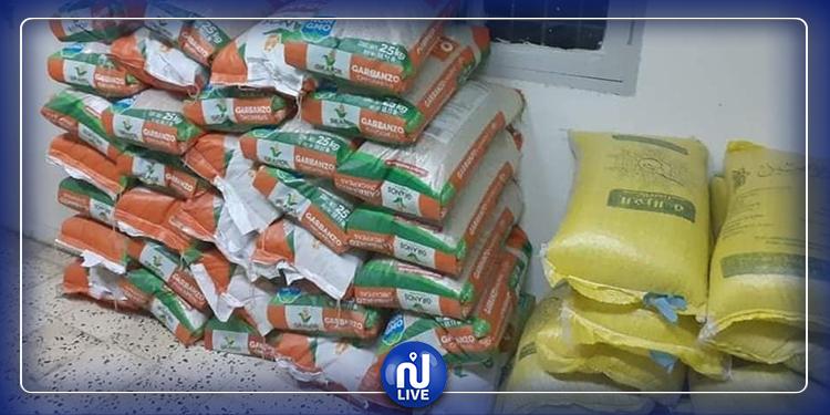 جندوبة : إحباط عملية تهريب كميات من البقول الجافة من  القطر الجزائري