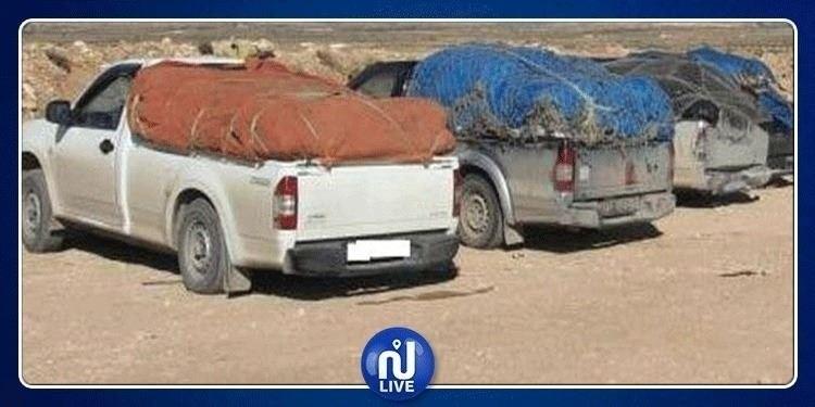 رمادة: الوحدات العسكرية  تحجز سيارة تهريب قادمة من التراب الليبي