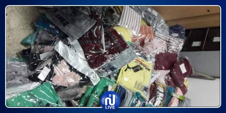 صفاقس: حجز 3646 قطعة ملابس جاهزة بقيمة 107 الف دينار(صور)