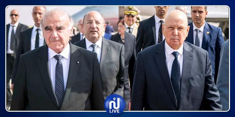 وصول الرئيسين الجزائري والمالطي للمشاركة في مراسم دفن الرئيس الراحل