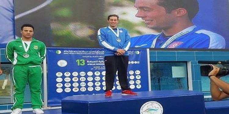 Wassim Elloumi, champion d'Afrique sur 100 m brasses